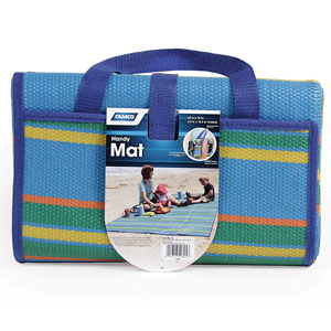 Camco Weather Proof Handy Beach Mat with Carry Strap
