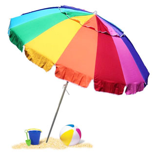 EasyGo Heavy Duty Rainbow Beach Umbrella with sand anchor