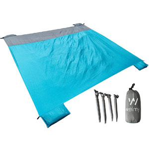 FANCYOUT Sand Proof Compact Beach Blanket