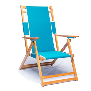 Frankford Umbrellas Oak Wood Beach Lounge Chair