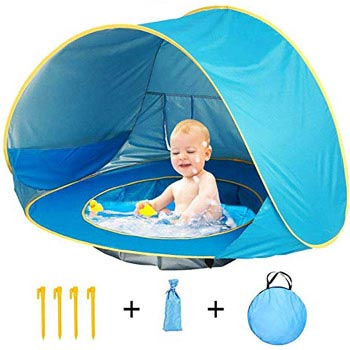 HALOFUN Baby Beach Tent, Pop-up and Portable Shade Pool
