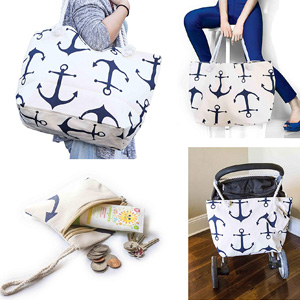 JJMG Summer Large Beach Bag for Moms