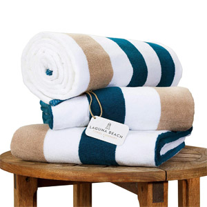 Oversize Plush Cabana Towel by Laguna Beach Textile