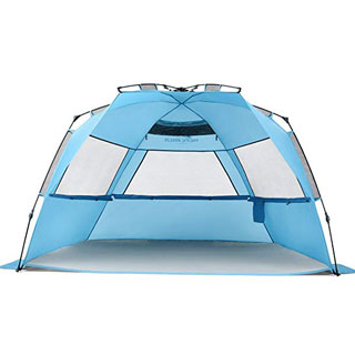 Pacific Breeze Easy Set Up Large Beach Tent Deluxe