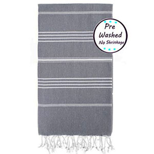 Prewashed Soft Original Turkish Peshtemal Beach Towels