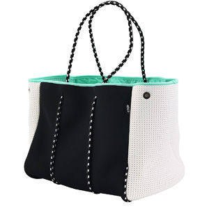QOGiR Neoprene Multipurpose Beach Bag Tote for Moms