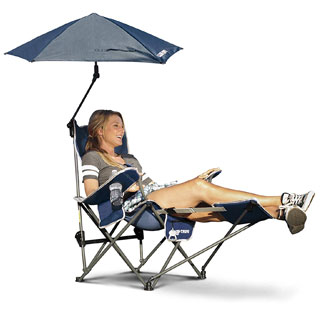 Sport-Brella Reclining Beach Chair with Umbrella