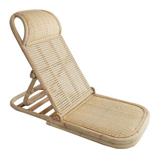 Wild in Bloom Low Wooden Beach Chair rattan