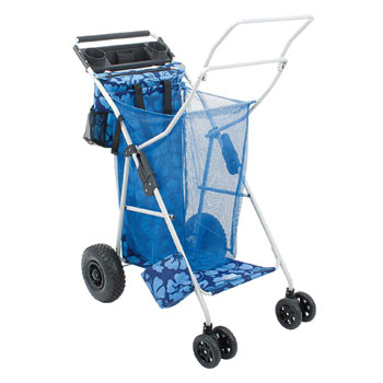 Rio Beach Brands Deluxe Ultra Wonder Wheeler Beach Cart for Sand