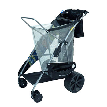 Rio Brands Wonder Wheeler Beach Cart with Ultra Wide Wheels for soft sand