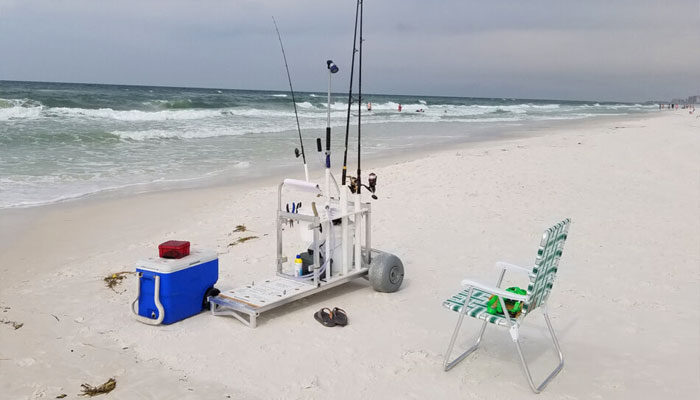 fishing beach cart