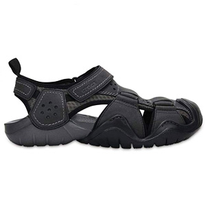 Crocs Men Swiftwater Leather Sandal