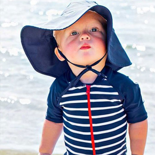 UPF fabric sun protection hat for kids