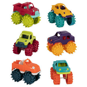 Battat Mini Monster 6 Trucks Beach Toys