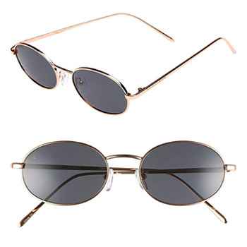 PRIVÉ REVAUX Madelaine Collection Handcrafted Designer Oval Framed Sunglasses