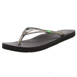 Sanuk Womens Yoga Joy Metallic Flip Flop
