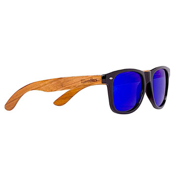 Woodies Wood Sunglasses with Mirror Polarized Lens for Men and Women