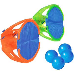 Diggin Squap Ball Toss Catch Game Set 2 Paddle Mitts & 4 Balls