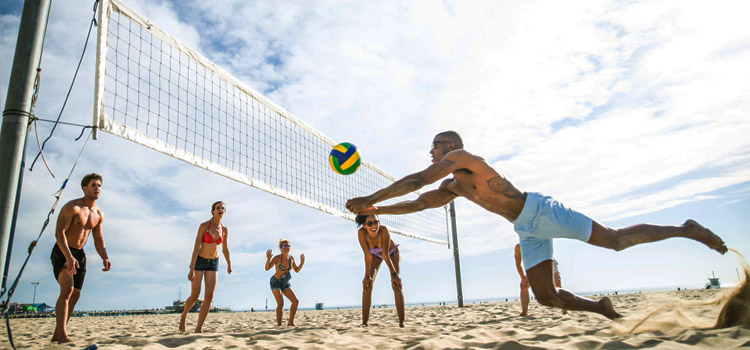 beach volleyball materials and sizes