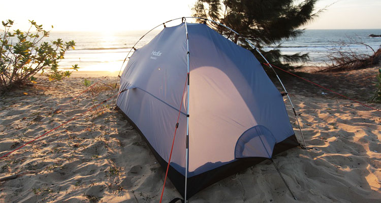 camping tent at the beach
