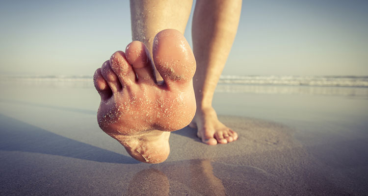 foot care at the beach